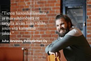 Perintäritarin Juha Järvinen Asiakastiedon Luottolista-lehdessä