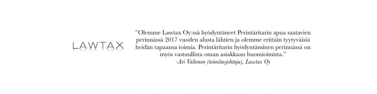 Perintäritarin referenssi Lawtax Oy