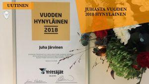 Juha Järvinen on vuoden 2018 hynyläinen