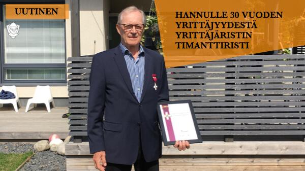 Hannu Ritari Yrittäjäristin Timanttiristi Perintäritari