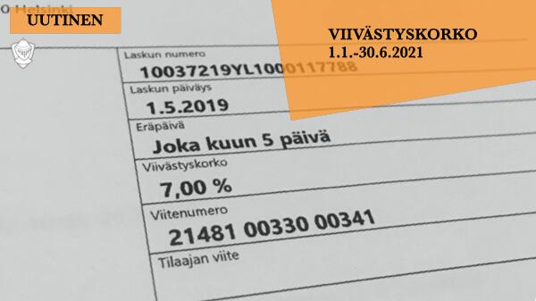 Viivästyskorko 2021 Suomen Pankki Perintäritari